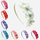 Child Baby Girls Flower Hairband Soft Elastic Headband Hair Accessories Band UK