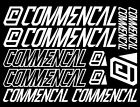 Commencal Vinyl Decals Stickers Sheet Bike Cycle Cycling Bicycle Mtb ROAD BMX
