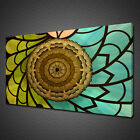 COLOURFUL STAINED GLASS CANVAS PRINT PICTURE WALL ART HOME DECOR MODERN DESIGN