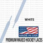 WAXED Hockey Skate Laces - 72 84 96 108 120 Inch - Black/White - Made in USA!