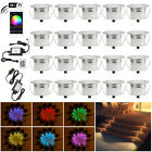 20XΦ45mm WIFI RGB+WW Remote Control LED Deck Stair Lights Outdoor Landscape Lamp