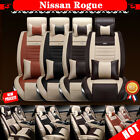 Front & Rear Vehicle Car Seat Cover Skidproof Fits Nissan Rogue PU Leather BCL
