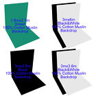 Photography Muslin Backdrop100% Cotton Photo 3Colors Studio Background Video Kit