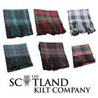 New Scottish Highland Kilt Tartan Polyviscose Fly Plaid - Choice of 15+ Tartans