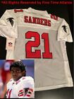 NEW Deion Sanders Atlanta Falcons / Braves ERA M&N White 1990 Men's Retro Jersey on eBay