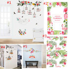 Romantic Flamingo Birdcage Flower Removable Wall Stickers Decals Window Home DIY