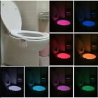 Toilet Night Light Human Motion Sensor Toilet Light Bathroom With 8 Color DDCM