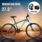 "27.5"" Men's Mountain Bike Shimano Hybrid 21 Speed Bicycle Suspension Sports"