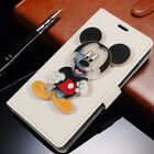 3D Cartoon Minnie Mickey Moving Glitter Liquid Flip PU Leather Case For Huawei