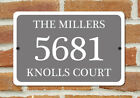 "Customized House Number Plaque Aluminum Metal 12"" x 8"" Home Address Sign"