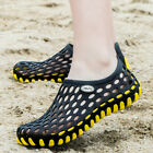 Mens Beach Sandals Breathable Slippers Shoes Summer Hollow out Garden Hole Flat