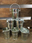 Sets of Small Metal Buckets Pails Party Food Dips Wedding Favours Crafts H5.5cms