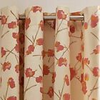 TULA,100% COTTON SLUB WEAVE,FULLY LINED,  RING TOP CURTAINS in two colours