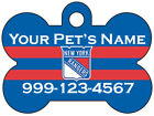 New York Rangers Custom Pet Id Dog Tag Personalized w/ Name & Number $7.97 USD on eBay