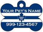 Toronto Maple Leafs Custom Pet Id Dog Tag Personalized w/ Name & Number $7.97 USD on eBay