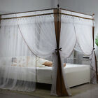 Priceness 4 Corners Double Mosquito Net Bedding Canopy Curtain Full Queen Size image