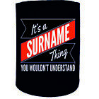 Stubby Holder Your Surname Thing Personalised Funny Novelty Birthday Gift