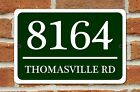 """Personalized Home Address Sign Aluminum 12"""" x 8"""" Custom House Number Plaque"""
