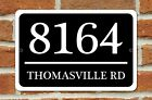 "Внешний вид - Personalized Home Address Sign Aluminum 12"" x 8"" Custom House Number Plaque"