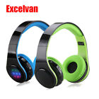 Wireless Bluetooth LED Stereo Headphones Headsets FM Radio for Smartphones PC US