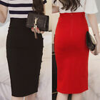 Plus Size Womens Ladies Peplum Split Frill Pencil Bodycon Knee LenBDh Skirt BD