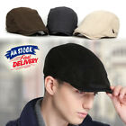 Men's Newsboy Gatsby Cap Ivy Hat Golf Driving Flat Cabbies Beret Driver Hats AU