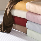 1000TC New Egyptian Cotton Fitted Sheet/Flat Sheet Choose Stripe Color US-Size image