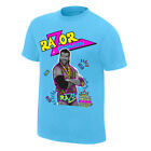 Official WWE Authentic Razor Ramon Neon Collection Graphic T-Shirt Light Blue