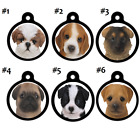 Cute Puppy Dog Faces-Pet-ID-Tags-Shih tzu Beagle Collie Terr