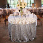 """72""""Round Sequin Tablecloth Sparkle Round Tablecloth Wedding Glitter Table Linens"""