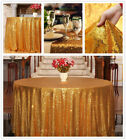 "72""Round Sequin Tablecloth Sparkle Round Tablecloth Wedding Glitter Table Linens"