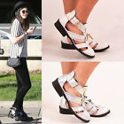 NEW LADIES WOMENS CUT OUT ANKLE BOOTS BUCKLE ZARA FASHION LOW HEEL SHOE SIZE 3-8