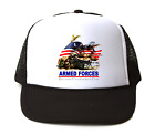 Trucker Hat Cap Foam Mesh Armed Forces Because Freedom Isn't Free Patriotic