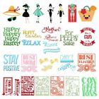 Girl/Happy Easter Cutting Die Stencil Scrapbooking Paper Card Embossing Craft
