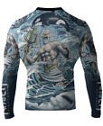 Raven Fightwear Men's Poseidon MMA BJJ Rash Guard Blue