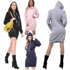 Women Girls Long Hoodie Ladies Hooded Sweatshirt Jumper Fleece Top Cardigan Coat