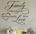 WALL STICKERS  FAMILY LOVE WALL QUOTES  Wall Art Decal WALL QUOTES STICKERS V35