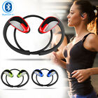 Sweatproof Wireless Bluetooth Headset Stereo Earphones Sport Running Headphones