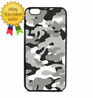 Black Army Camouflage Print Phone Case Galaxy S Note Edge iPhone 5 6 7 8 9 X +