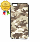 Brown Army Camouflage Print Phone Case Galaxy S Note Edge iPhone 5 6 7 8 9 X +