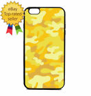 Yellow Army Camouflage Print Phone Case Galaxy S Note Edge iPhone 5 6 7 8 9 X +