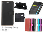 For Samsung Galaxy S9 S9+ Screen Protector/ Card Slot Wallet Case