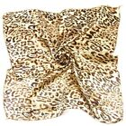 Womens Ladies Summer Leopard Print Satin Square Scarves Neckerchief 50*50cm