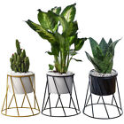 Garden Plant Geometric Metal Iron Planter Flower Pot Set Container Home Decor
