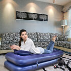 JILONG INFLATABLE 3 IN 1 FLOCKED AIRBED w ELECTRIC AIR PUM CAMPING BED MATTRESS