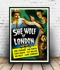 She Wolf of London : Vintage movie ad, poster, Wall art, poster, reproduction.