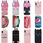 3D Cola Cat Unicorn Silicone Phone Case For iPhone 5 6 7 8 X Samsung S9 Huawei $4.79  on eBay