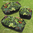 Fabric Raised Home Garden Bed Baskets Planting Pots Window Boxes Plant Care Bag