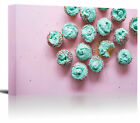 Frosted Sprinkle Cupcakes Art Print Wall Decor Image - Canvas Stretched Framed