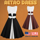Women's Retro Dress, Scoop Neck Sleeveless 1950s Vintage Large Swing Midi Dress